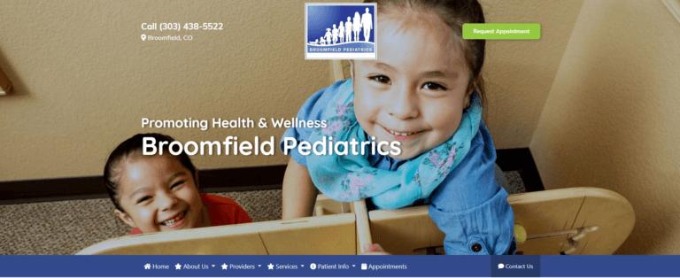 Broomfield Pediatrics Website | Omni Premier Marketing